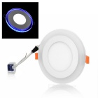 JRLED 8W + 4W 96-2835 SMD Round Ultra Thin Ceiling Light White + Blue Light (AC 100~265V)
