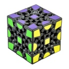 6cm 3D Gear Magic IQ Cube - Black + Red + Multicolored