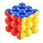 3*3*3 5.7cm Balls Style Magic Cube - Yellow + Red (Skill Level 3)