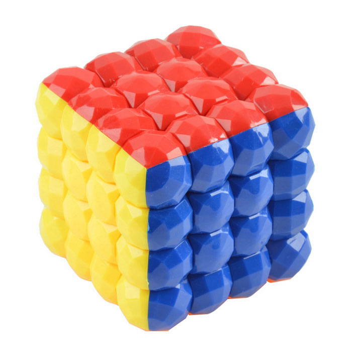 4x4x4 7cm Balls Style Magic Cube - Yellow + Red (Skill Level 4)