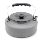Sunfield 1.6L Aluminum Alloy Outdoor Camping Coffee Teapot Flat Kettle - Deep Grey + Black