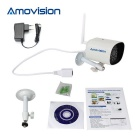 Amovision 1.0MP 720P CMOS 3.6mm cámara de red IP - blanco (plug eu)
