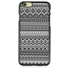 Geometric Pattern Protective TPU Back Case for IPHONE 6 / 6S PLUS - Black + White