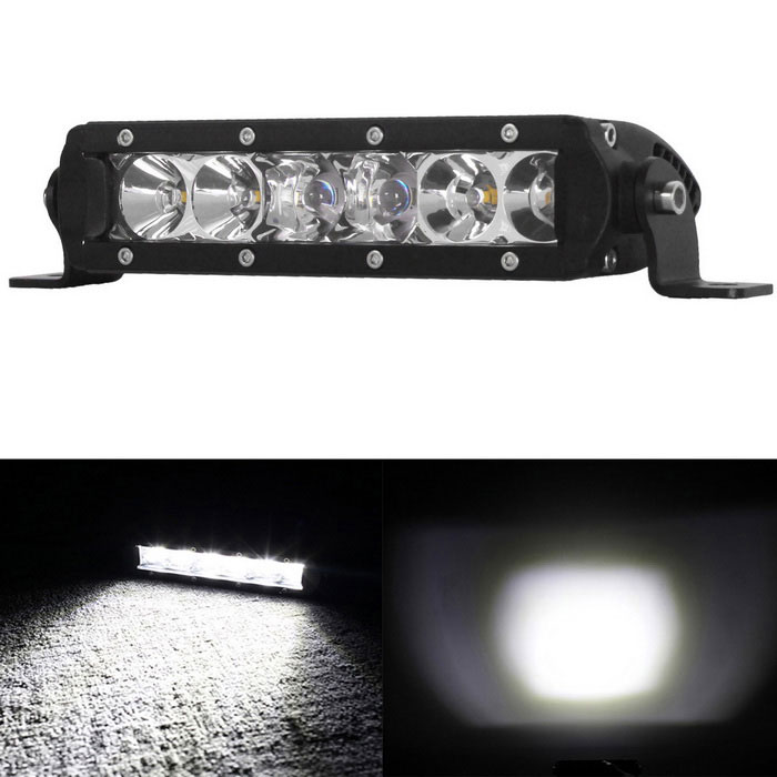 30W 6-LED 6000K Worklight Bar Combo Beam Offroad SUV Driving Lamp