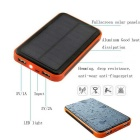 "Sungzu ""30000mAh"" doble banco de energía solar w / LED lámpara LED - naranja"