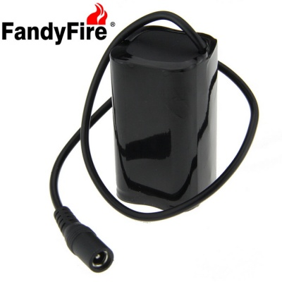 FandyFire Rechargeable 8.4V 4400mAh 18650 Battery Pack for Bike Light - Black (4 x 18650)