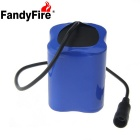 FandyFire  8.4V 8000mAh Rechargeable Li-ion 4 x 26650 Battery Pack - Black