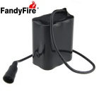 FandyFire  8.4V 6600mAh Rechargeable 6 x 18650 Lithium-ion Battery Pack for Bicycle Light - Black