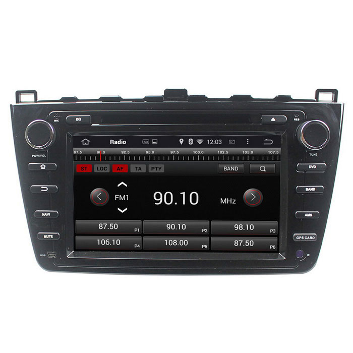 "LsqSTAR 8"" HD Android 4.4 Car DVD Player w/ GPS Wi-Fi AUX SWC Canbus Mirrorlink For Mazda 6 / Ruiyi"