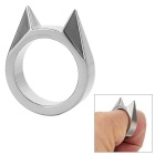 Cat's Ear Broken Window Defense Ring - Silver
