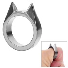 Cat's Ear Broken Window Defense Ring - Silvery Black