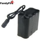 FandyFire Rechargeable 8000mAh Lithium-Ion 8-18650 Battery Pack for Bicycle Light - Black