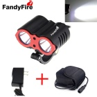 FandyFire Super-bright XM-L2 3000lm 3-Mode 2-LED Mountain Bike Bicycle Light (6 x 18650)