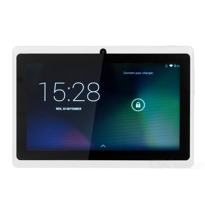 "7"" Android 4.4 Tablet PC met 1 GB RAM, 16 GB ROM, Wi-Fi - Wit (US Plugs)"