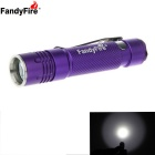 FandyFire XP-E 3-Mode White LED Head Rotatable Flashlight - Purple
