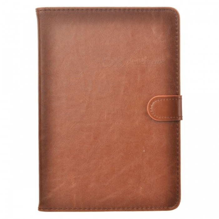 Protective PU Leather Case w/ Stand for IPAD MINI 4 - Deep Brown