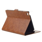 Oil Pattern Protective PU Case Cover w/ Stand for IPAD MINI 4 - Brown