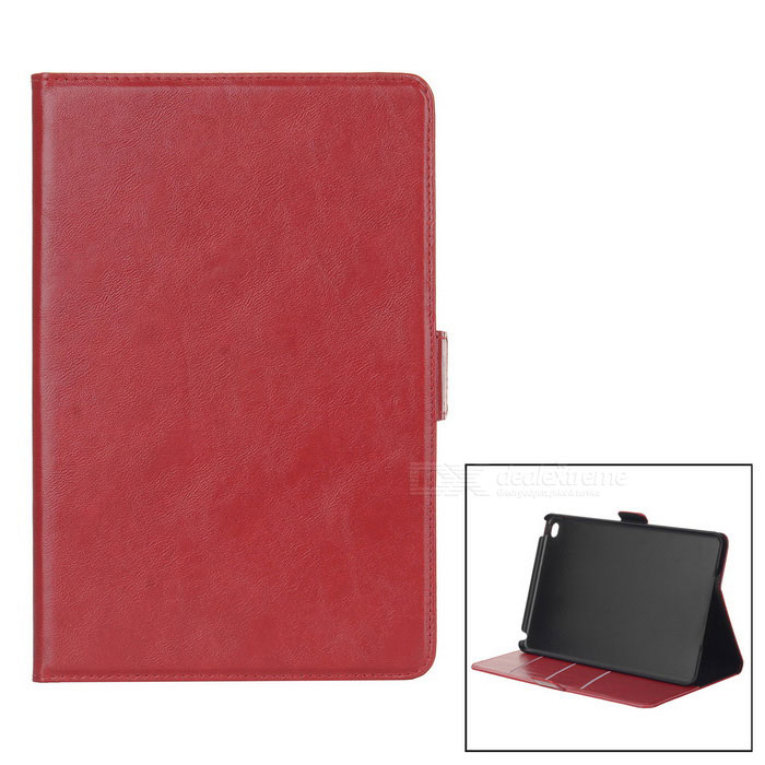 Oil Pattern Protective PU Case Cover w/ Stand for IPAD MINI 4 - Red