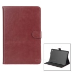 Protective PU Leather Case w/ Stand for IPAD MINI 4 - Dark Red + Black