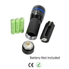 5-LED 7-Mode Red Tail Light + White Zooming Flashlight for Bike - Blue