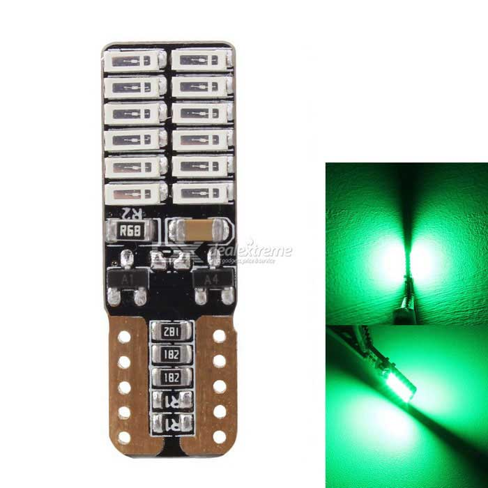 MZ T10 4.8W Car Atmosphere / License Plate Light Green 24-4014 SMD