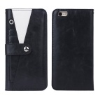 Protective TPU + PC Leather Flip-Open Case w/ Card Slot / Stand for IPHONE 6 / 6S - Black