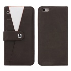 Protective TPU + PC Leather Flip-Open Case w/ Card Slots / Stand for IPHONE6 / 6S - Coffee