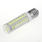 51-LED E14 2835 7W 460lm Bluish White Light LED Bulb - Silver (220V)