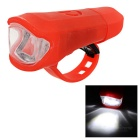Leadbike A50 2-LED 100lm 2-Mode White Light Bike Lamp - Orange