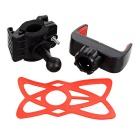 Universal Bike Handlebar Mount Holder for Cellphone - Black + Red