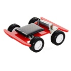 DIY Assembling Educational Solar Powered Toy Car - Red + Black