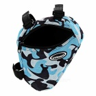 CTSmart Bicycle Bike Triangle Top Tube Bag - Blue Camouflage (1.5L)