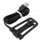 S-What 2-in-1 Micro USB M to M Charging Data Cable - Black (114cm)