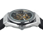 MCE Men's Analog Mechanical Water Resistant Watch - Black + Silver