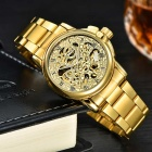 MCE Women's Fashionable Steel Band Analog Mechanical Watch - Golden