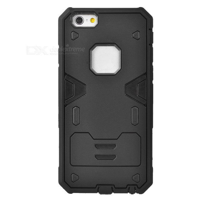 PowerRangers Style TPU + PC Back Case for IPHONE 6S - Black
