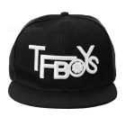 "Unisex Fashionable ""TFBOYS"" Pattern Baseball Peak Cap - Black + White"