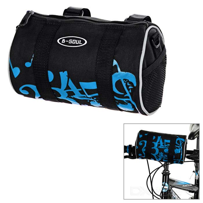 B-SOUL 3.8L Handlebar Bag / Waist Bag w/ Reflective Stripe - BlueBike Bags<br>Form ColorBlack + Blue + Multi-ColoredQuantity1 DX.PCM.Model.AttributeModel.UnitMaterialOxford clothTypeHandlebar BagsCapacity3.8 DX.PCM.Model.AttributeModel.UnitWaterproofNoGenderUnisexBest UseCycling,Mountain Cycling,Recreational Cycling,Road CyclingCertificationCEPacking List1 x Handlebar Bag<br>