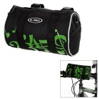 B-SOUL 3.8L Outdoor Cycling Handlebar Bag / Waist Bag w/ Reflective Stripe - Black + Green