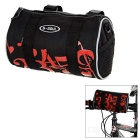 B-SOUL 3.8L Outdoor Cycling Bike Handlebar Bag / Waist Bag w/ Reflective Strip - Black + Red