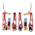 AEST YVB76A-01 Replacement CNC Aviation Aluminum V Brake Set for MTB Mountain Bike - Red