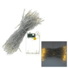 5W 80-LED 3500K Warm White String Light Lamp for Wedding, Chrismas Decoration (10m)
