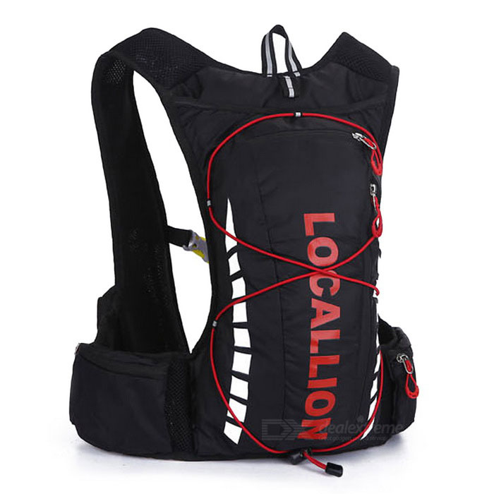 LOCAL LION Cycling Backpack / Hiking Fishing Bag - Black (20-25L)Bike Bags<br>Form ColorBlack + RedModel508#Quantity1 DX.PCM.Model.AttributeModel.UnitMaterialPolyester + Waterproof fabricTypeOthers,Cycling bagCapacity20-25 DX.PCM.Model.AttributeModel.UnitWaterproofYesGenderUnisexBest UseCycling,Mountain Cycling,Recreational Cycling,Road CyclingCertificationCEPacking List1 x Backpack<br>