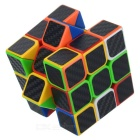 3*3*3 Carbon Fiber Film Magic IQ Cube - Black + Multicolor