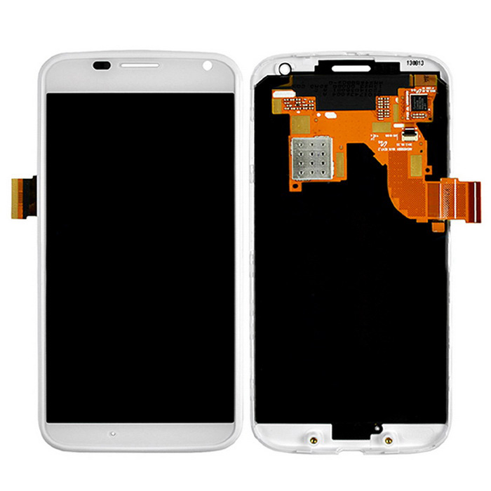 Skiliwah LCD Digitizer Capacitive Touch Screen for Moto XT1060 - White