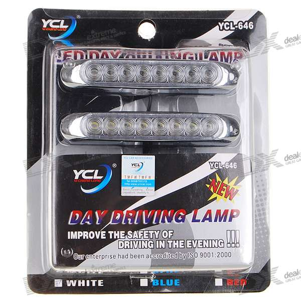 YCL-646 Waterproof Car 8-LED White Light Bulb (Pair)