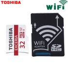 Genuine Toshiba Extreme 32GB U1 CLASS 10 Micro SD / TF Memory Card with Wi-Fi SD Adapter UP TO 48m