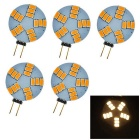 G4 5W 180lm 15-SMD 5630 LED 3000K Warm White Light Car Lamp (DC 12V / 5PCS )