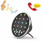 Cwxuan Colorful LED Stereo Bluetooth V3.0 Speaker w/ Mic / TF / FM / AUX - Black