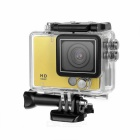 "2.0"" TFT HD 1080p 2/3"" CMOS 5MP Sports Camera w/ Wide Angle, 8X Digital Zoom - Yellow"